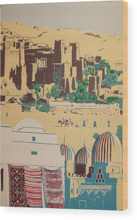Wood Print featuring the print North African Landscape by Biagio Civale