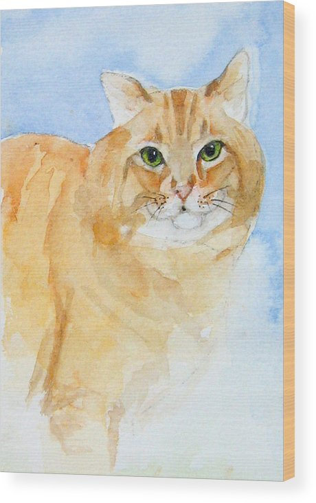 Feline Wood Print featuring the painting Orange Taffy by Gina Hall