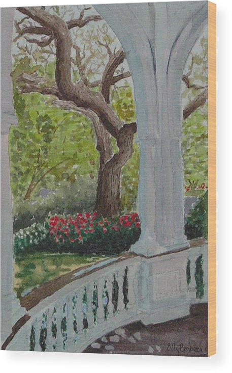 Veranda Wood Print featuring the painting Veranda by Ally Benbrook