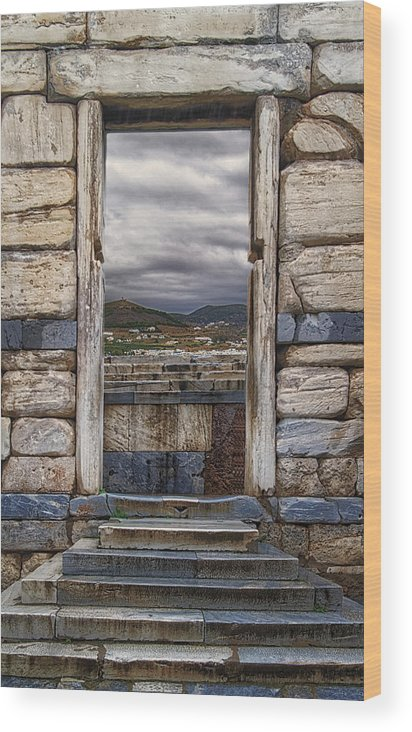 Gate Wood Print featuring the photograph Gate To The Acropolis by Adam Rainoff