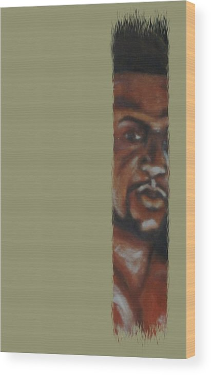 Figure Wood Print featuring the mixed media New Comer by Joseph Ferguson