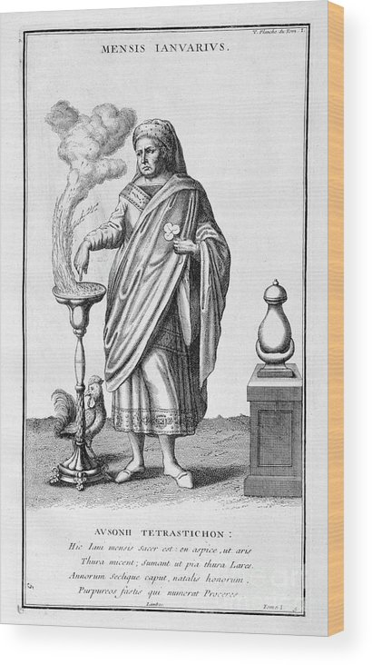 Engraving Wood Print featuring the drawing A Representation Of January, 1757 by Print Collector