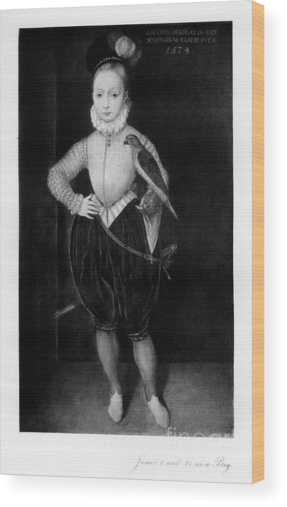 Engraving Wood Print featuring the drawing James I As A Boy, 1907 by Print Collector