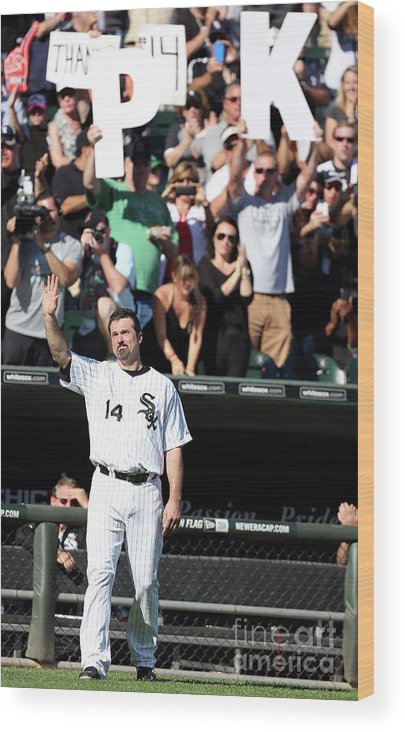 American League Baseball Wood Print featuring the photograph Paul Konerko by Tasos Katopodis