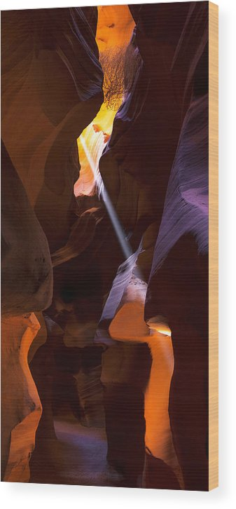 Deep In Antelope Wood Print featuring the photograph Deep In Antelope by Chad Dutson