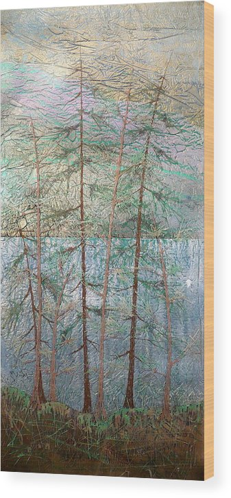 British Columbia Wood Print featuring the painting Seven by Rick Silas