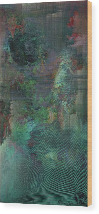 Abstract Wood Print featuring the digital art For everything that moves by Jenny Filipetti