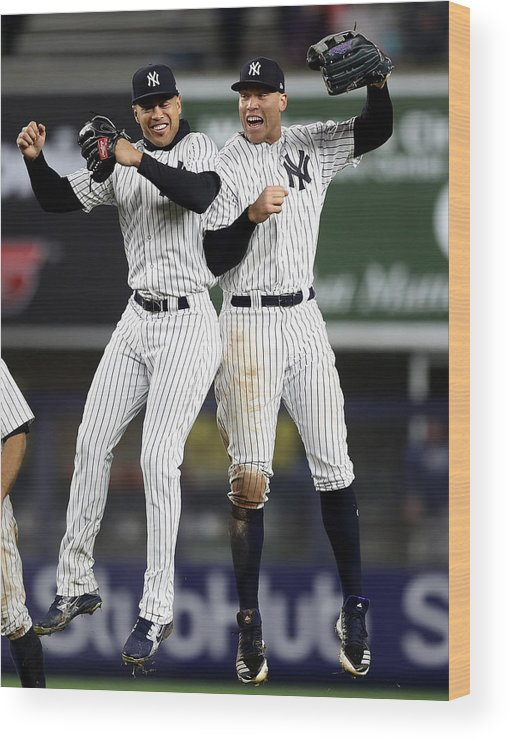 People Wood Print featuring the photograph Tampa Bay Rays v New York Yankees by Elsa