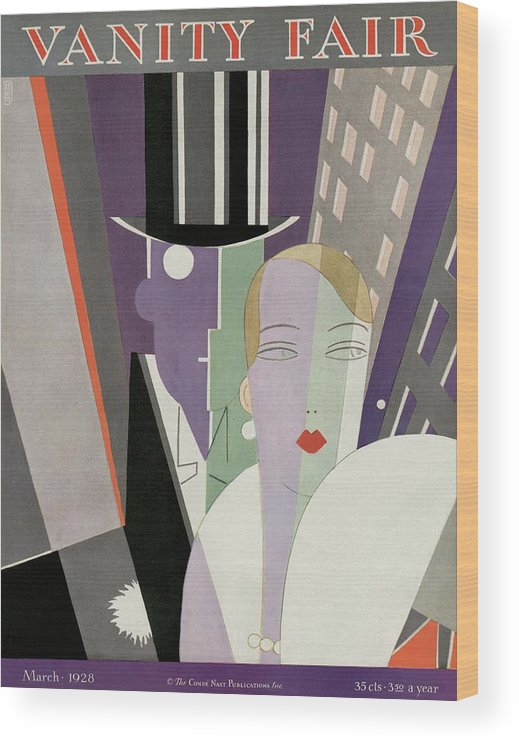 Cityscape Wood Print featuring the photograph A Couple Wearing Evening Clothes by Eduardo Garcia Benito