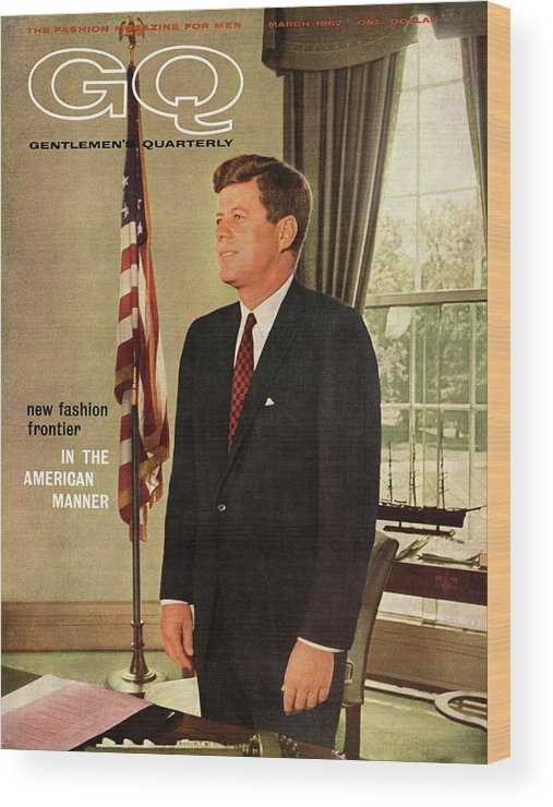 Political Wood Print featuring the photograph A Gq Cover Of President John F. Kennedy by David Drew Zingg