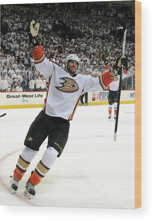 Playoffs Wood Print featuring the photograph Anaheim Ducks V Winnipeg Jets - Game by Lance Thomson