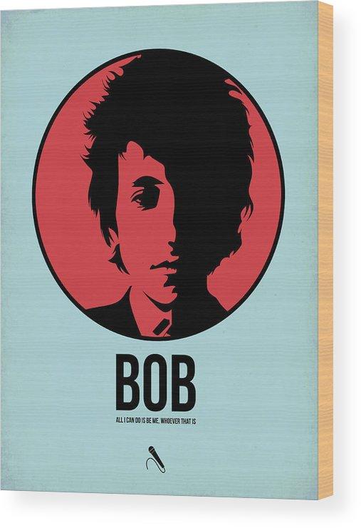 Music Wood Print featuring the digital art Bob Poster 2 by Naxart Studio