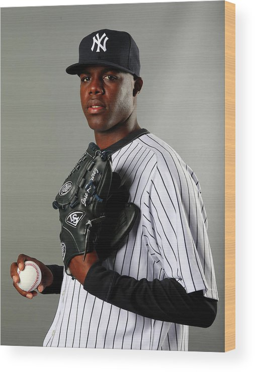 Media Day Wood Print featuring the photograph New York Yankees Photo Day by Elsa