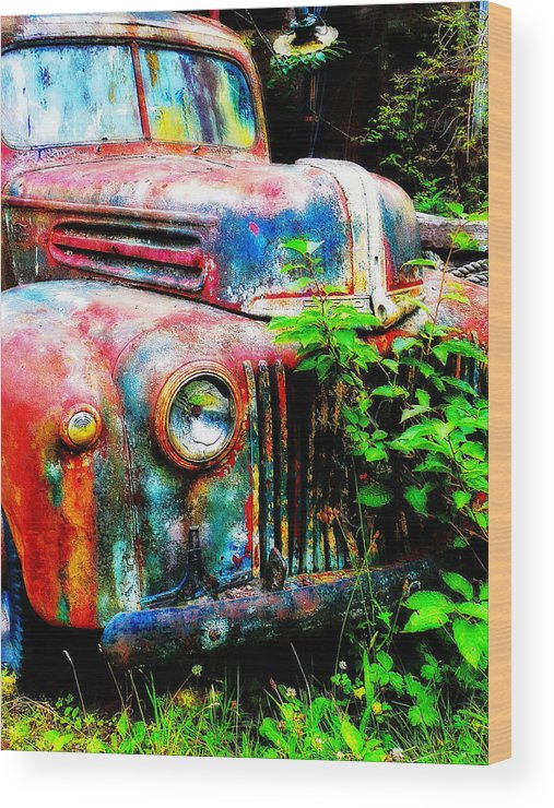 Old Wood Print featuring the painting Old Ford #2 by Sandy MacGowan
