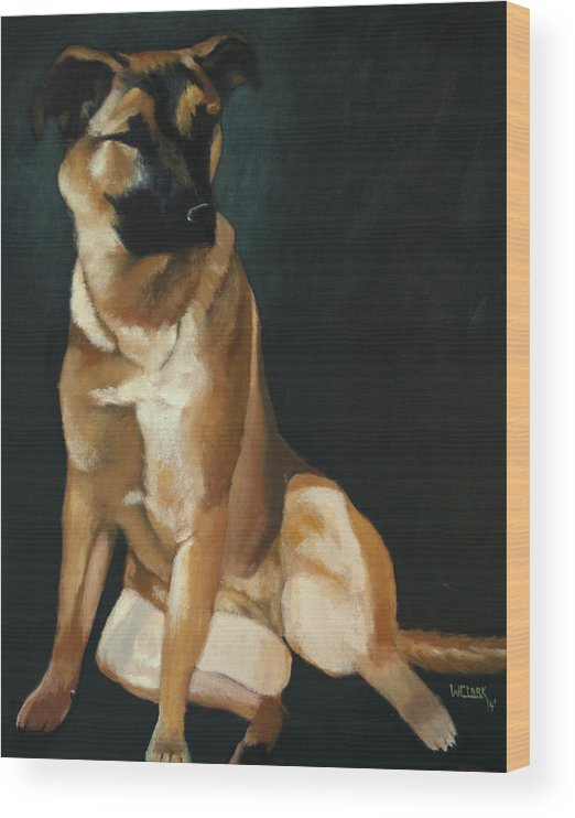 Oil Painting Wood Print featuring the painting Queen Sheba by Wade Clark