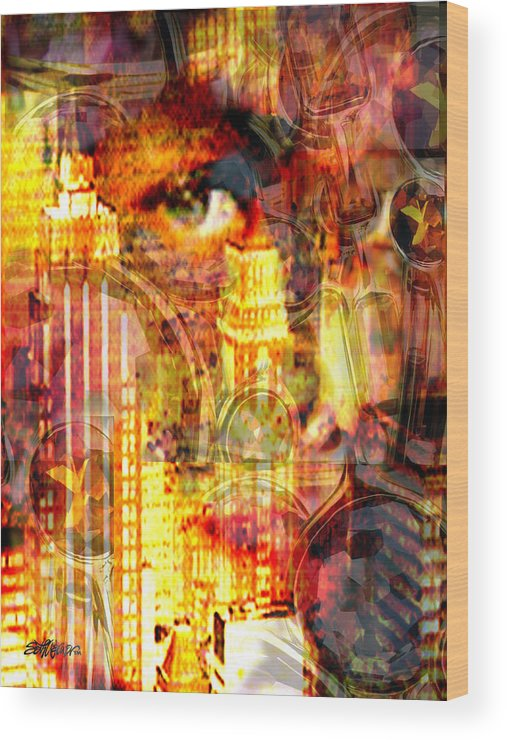 Big City Wood Print featuring the photograph Streetwalker by Seth Weaver