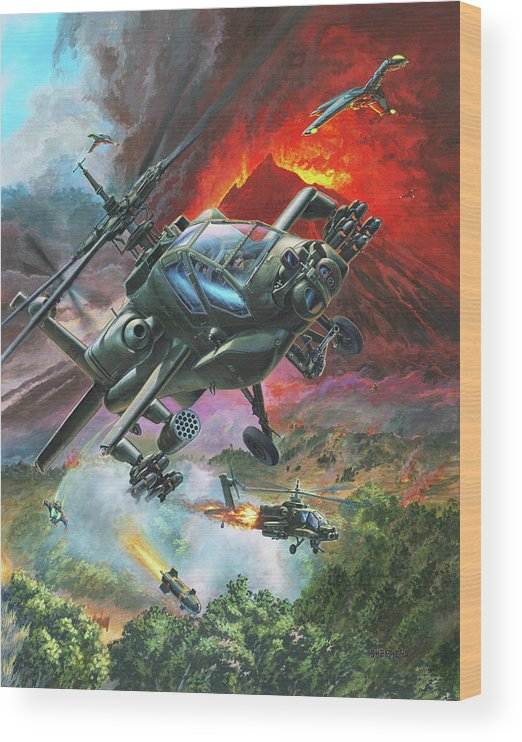 Apache Wood Print featuring the painting The Diablo Nest by Stu Shepherd