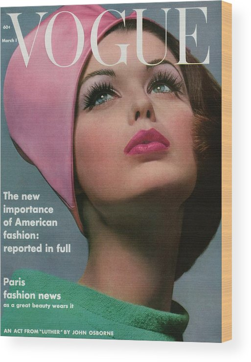Accessories Wood Print featuring the photograph Vogue Cover Of Dorothy Mcgowan by Bert Stern