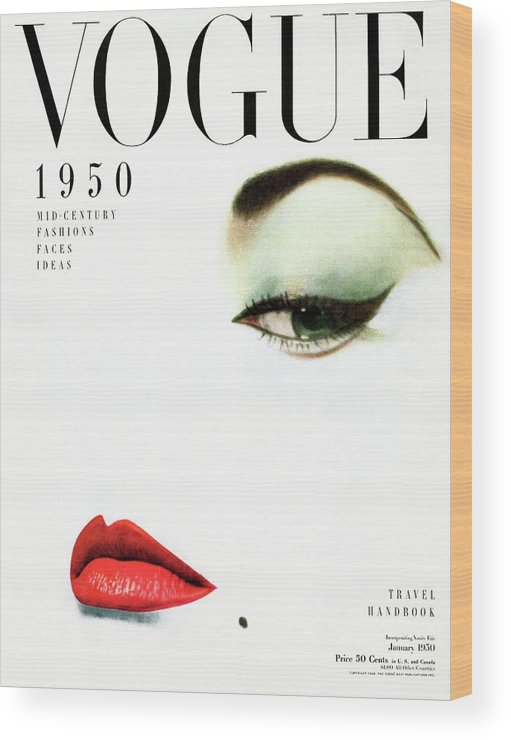 Beauty Wood Print featuring the photograph Vogue Cover Of Jean Patchett by Erwin Blumenfeld