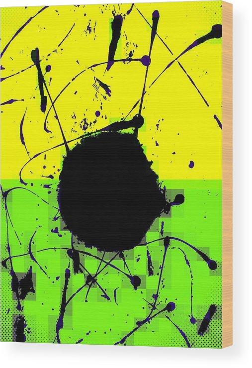Abstract Wood Print featuring the digital art Land mines by Joseph Ferguson