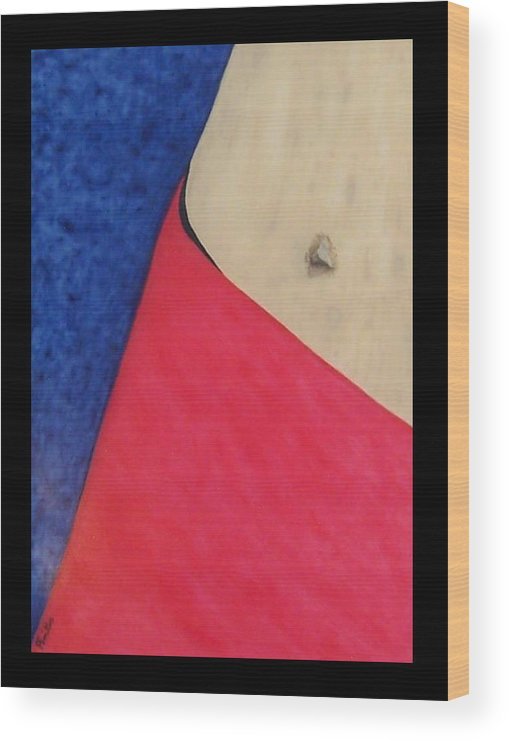 Berlin Wall Wood Print featuring the painting Berliner Navel by Anneliese Fritts