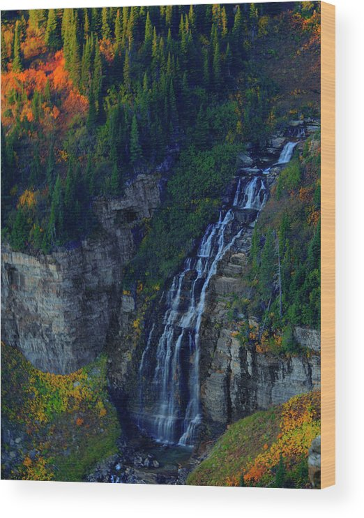 Glacier Wood Print featuring the photograph Glacier Waterfall by Roy Nierdieck