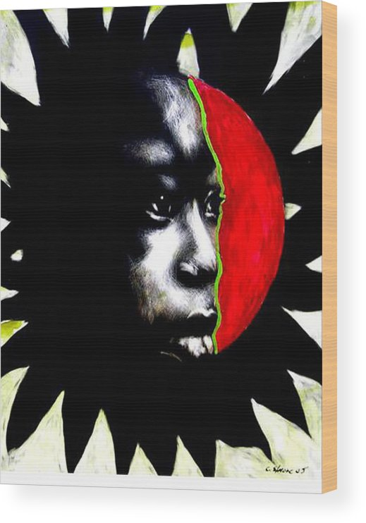 Wood Print featuring the mixed media 70 Sunshine by Chester Elmore
