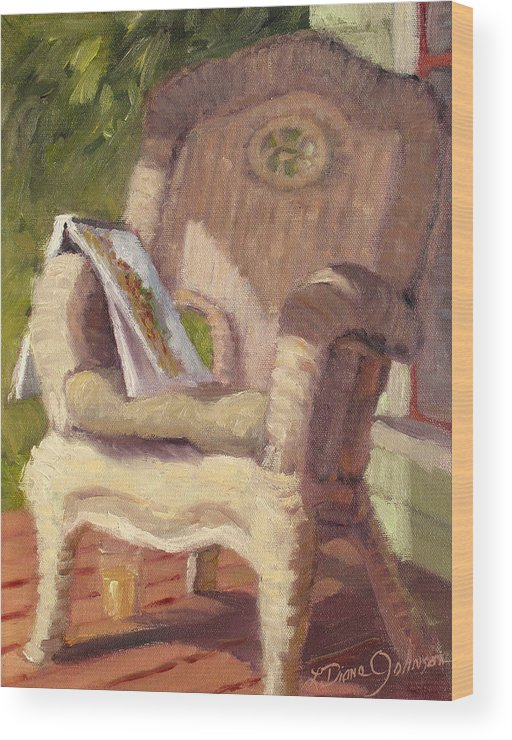 Old Architecture Wood Print featuring the painting An Afternoon With Monet by L Diane Johnson