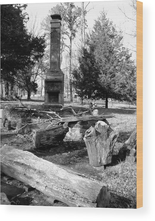 Wood Print featuring the photograph Cindy Winslow Chimney by Curtis J Neeley Jr