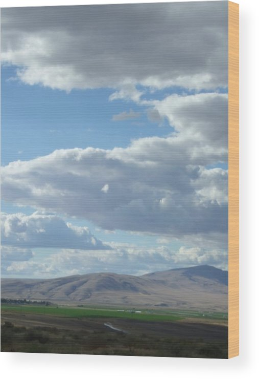 Clouds Wood Print featuring the photograph Cloudbreaks Over Rattlesnake by Ruth Stromswold