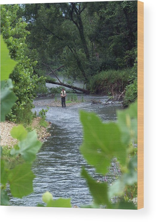Current River Wood Print featuring the photograph Current River 5 by Marty Koch