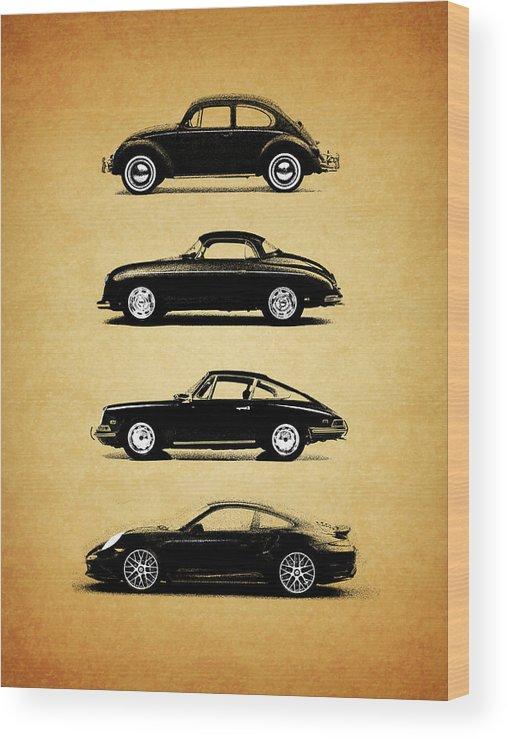 Porsche Wood Print featuring the photograph Evolution by Mark Rogan