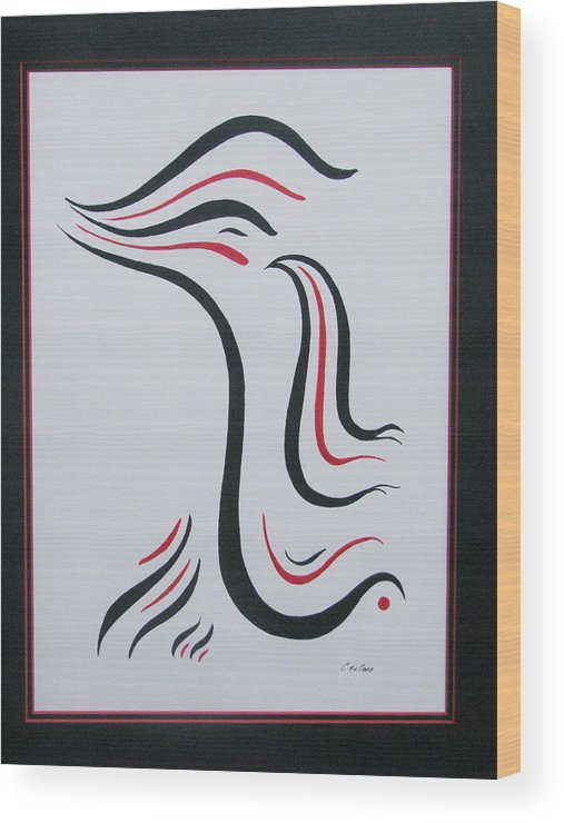 Abstract Free Form Wood Print featuring the painting Flight to Freedom I by Craig Lechman