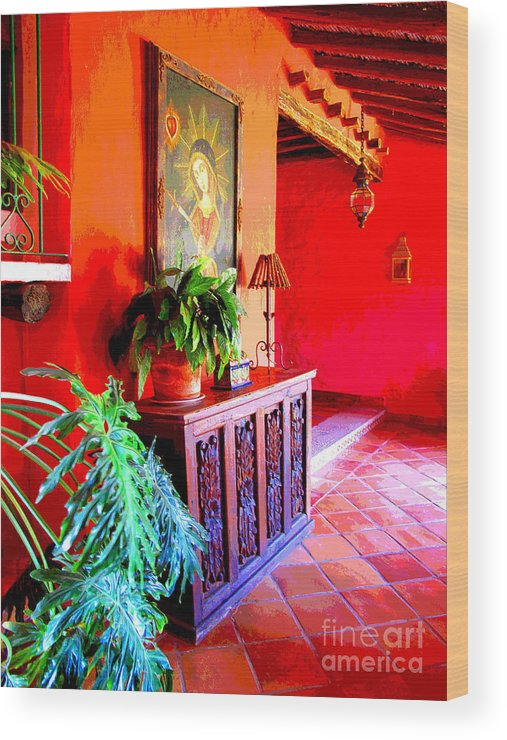 Darian Day Wood Print featuring the photograph Hacienda by Darian Day by Mexicolors Art Photography