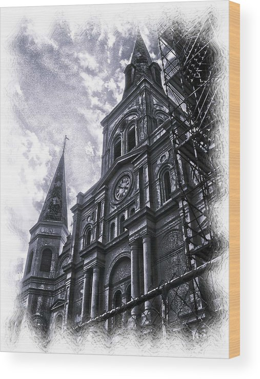 New Orleans Wood Print featuring the photograph Jackson Square Cathedral by Linda Kish