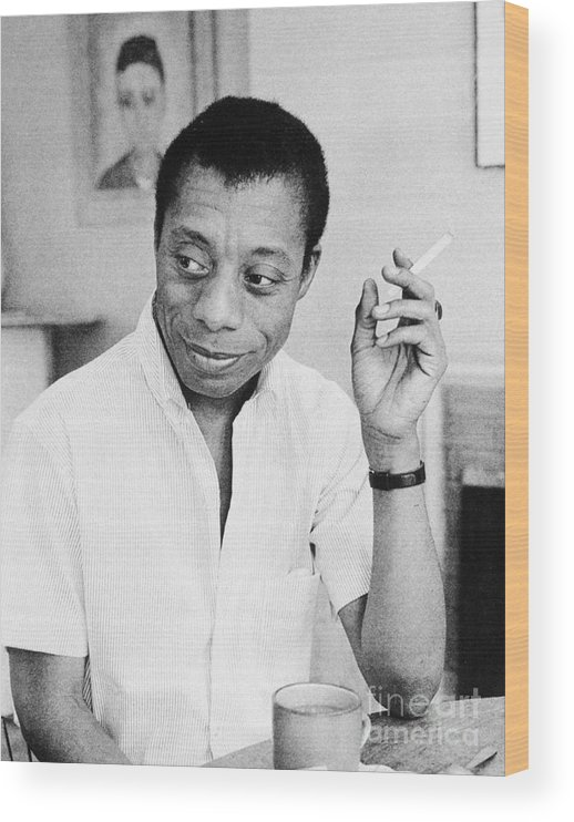 1950s Wood Print featuring the photograph James Baldwin by Granger