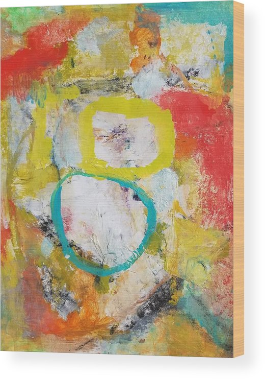 Abstract Wood Print featuring the painting Morning Calm by Patricia Byron