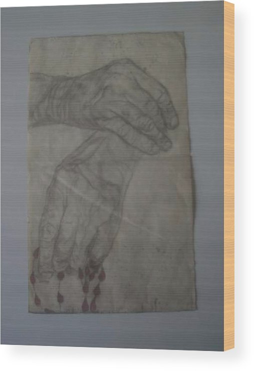 Love Hands Wood Print featuring the painting Mother Teresa by Nancy Caccioppo