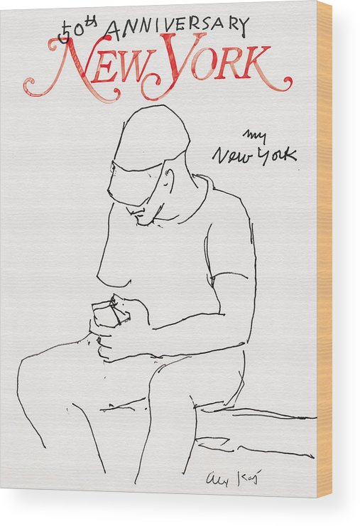 New York Magazine Wood Print featuring the drawing My New York by Alex Katz