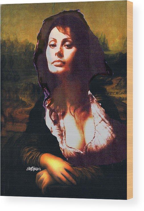 Mona Lisa Wood Print featuring the digital art My Real Mona Lisa by Seth Weaver