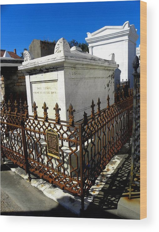 Photograph On Paper Wood Print featuring the photograph New Orleans Crypts 9 by Patricia Bigelow