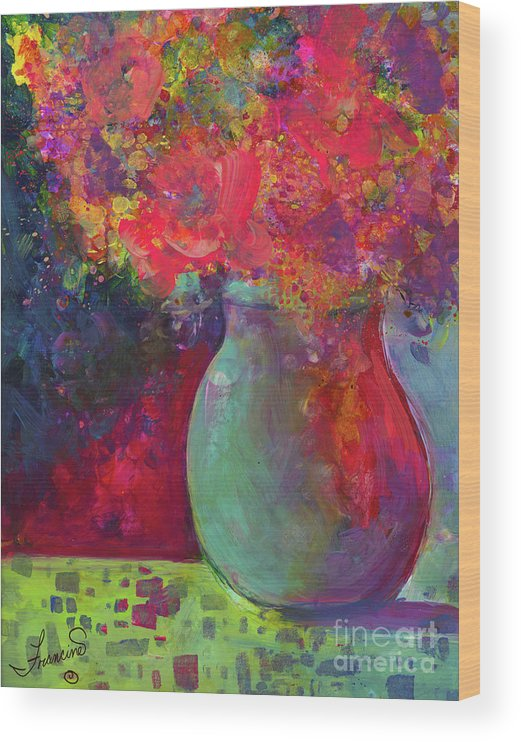 Alcohol Inks Wood Print featuring the mixed media Party Mix by Francine Dufour Jones