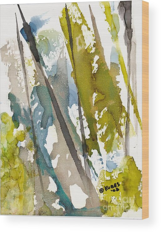Forest Wood Print featuring the painting Tall Timber by Susan Kubes