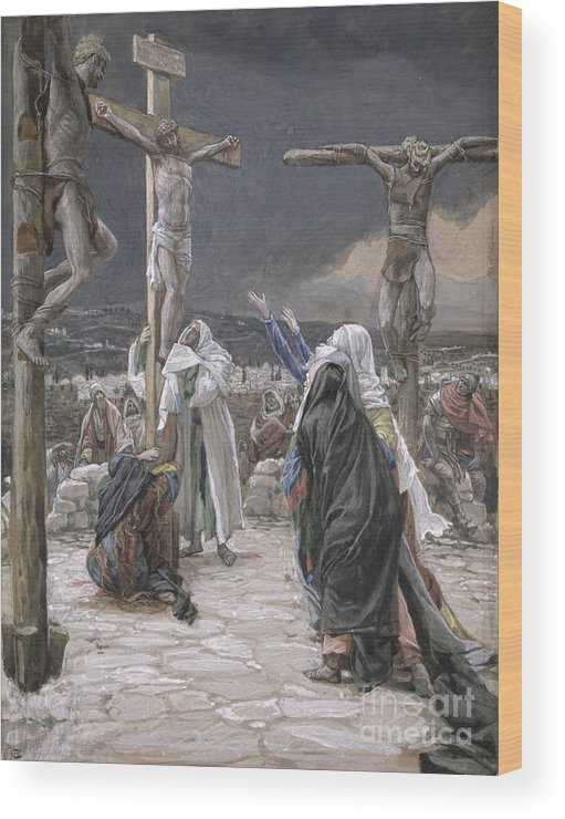The Wood Print featuring the painting The Death Of Jesus by Tissot
