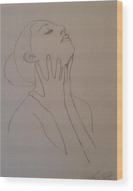 Humans Wood Print featuring the drawing The Incomplete Beauty by Sheila Renee Parker