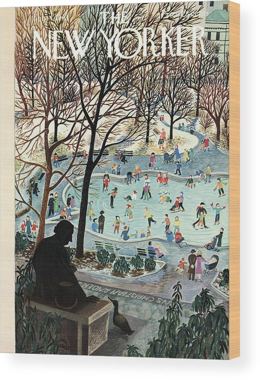 Ilonka Wood Print featuring the painting The New Yorker Cover - February 4th, 1961 by Ilonka Karasz