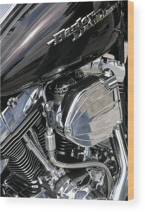 Motorcycle Wood Print featuring the photograph Timeless by Jim Derks