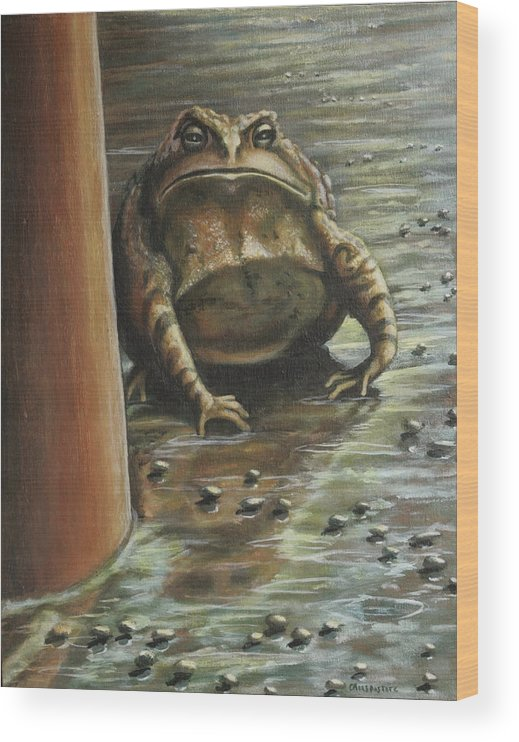 Toad Wood Print featuring the painting Under the Boardwalk by Colleen Maas-Pastore