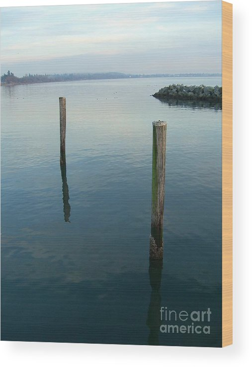 Water Wood Print featuring the photograph White Rock Water by Jim Thomson