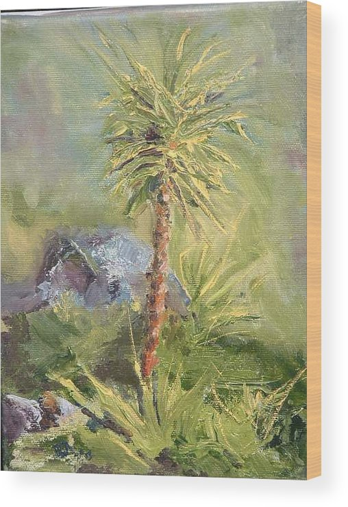Yucca Wood Print featuring the painting Yucca by Bryan Alexander